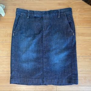 Blue Jean Pencil Skirt - Size 6 (Altered)